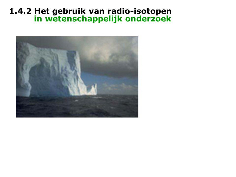 1.4.2 Het gebruik van radio-isotopen in wetenschappelijk onderzoek