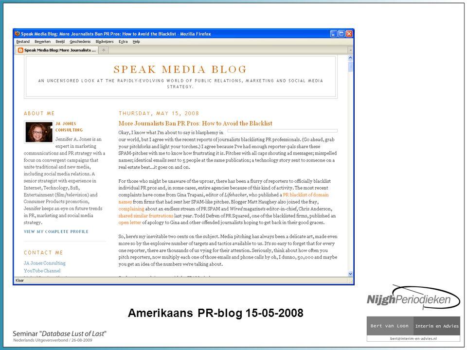 Amerikaans PR-blog 15-05-2008