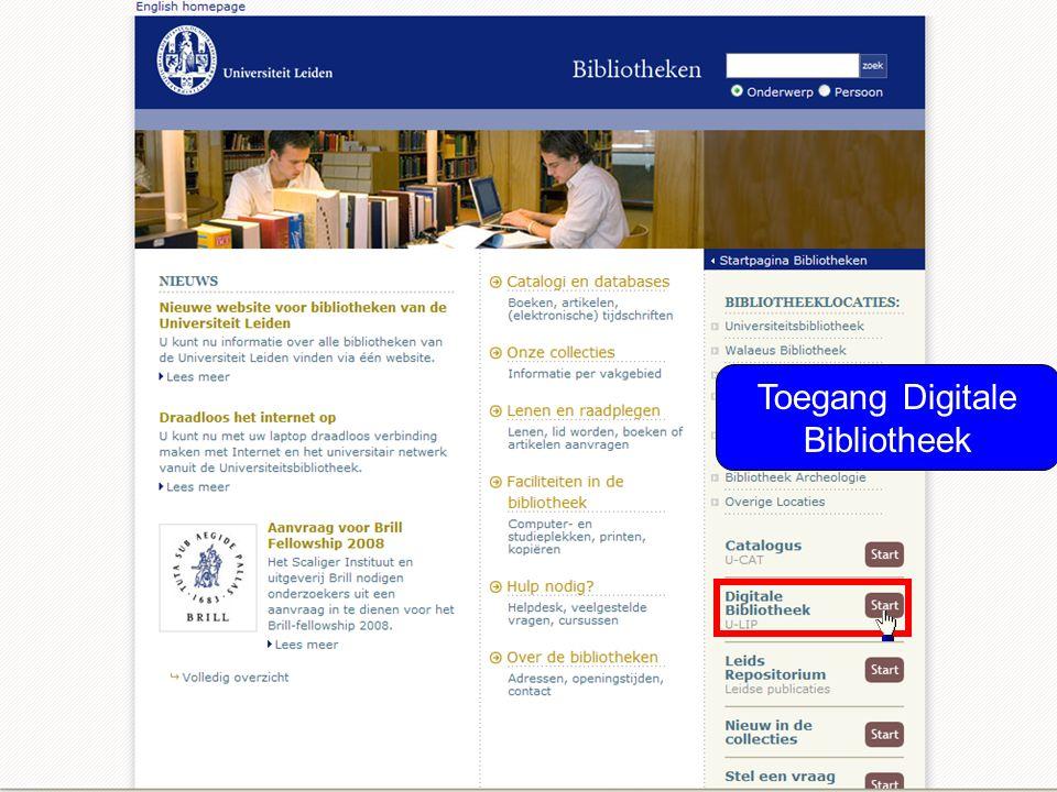 Toegang Digitale Bibliotheek