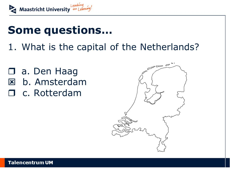Talencentrum UM When do Dutch people eat… …oliebollen?