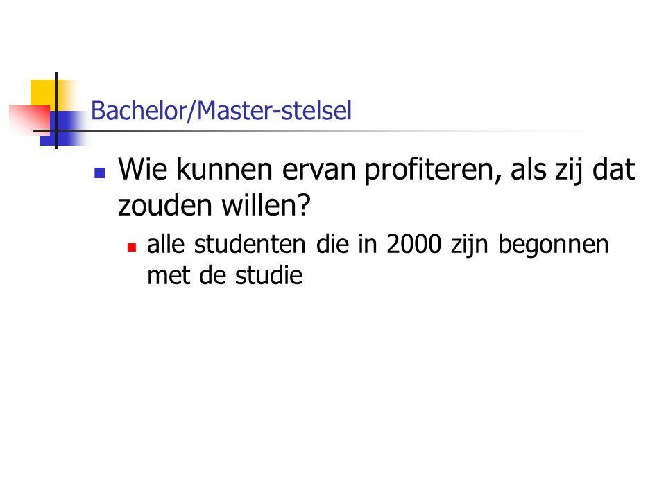 Bachelor/Master-stelsel Wat gaat er dan wel veranderen?