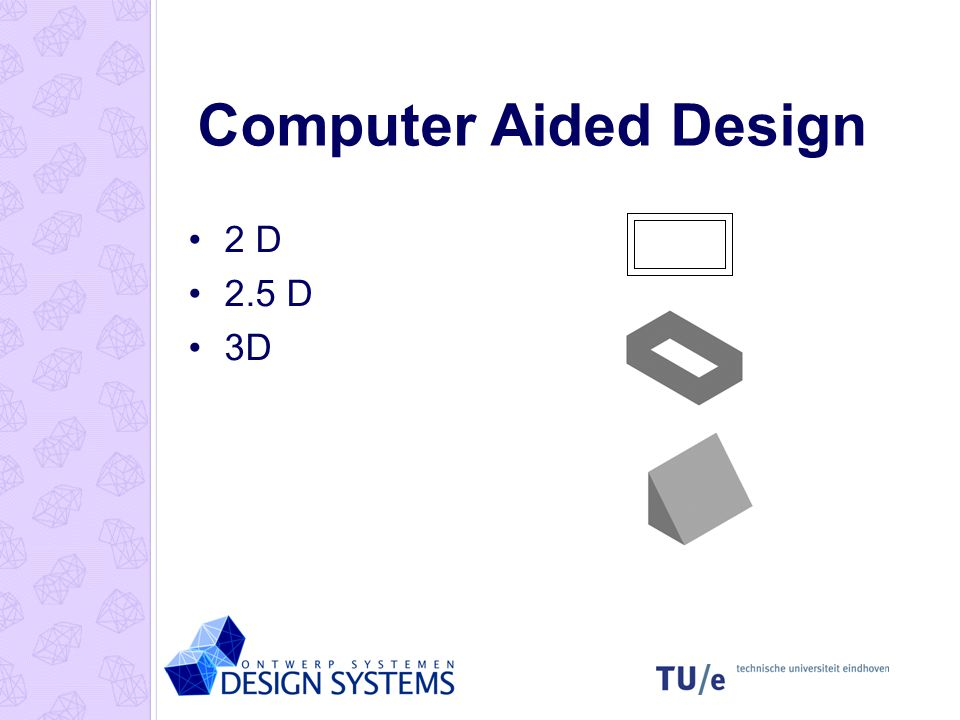 Computer Aided Design 2 D 2.5 D 3D