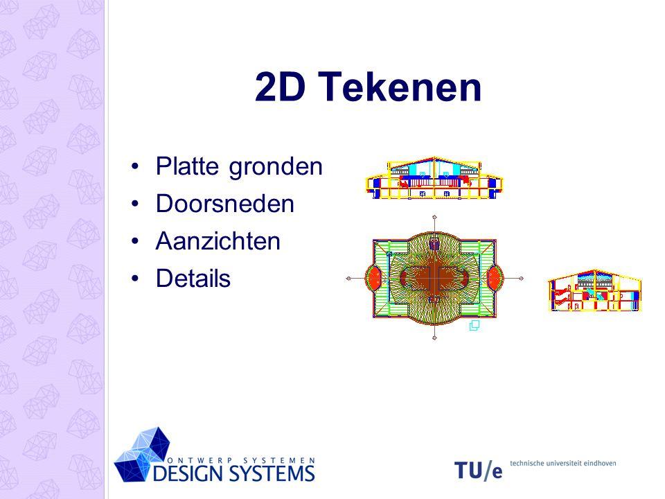 3D Tekenen 3D Model Aanzicht Pl. grond Doorsnede Presentatie