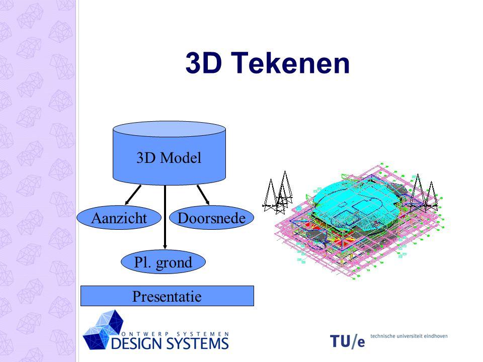 3D Modelleren Surface Models Lijnen met hoogte Solid Models Extruderen van vormen