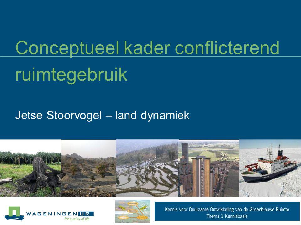 Conceptueel kader conflicterend ruimtegebruik Jetse Stoorvogel – land dynamiek