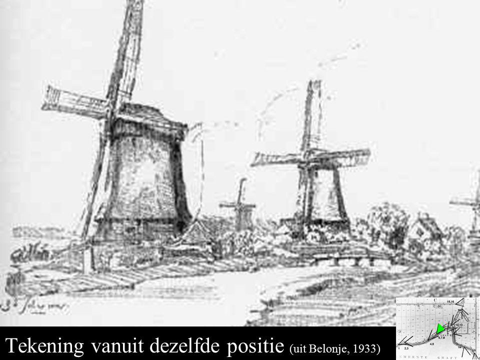 Middenmolens 6 en 7 tekening Tekening vanuit dezelfde positie (uit Belonje, 1933)