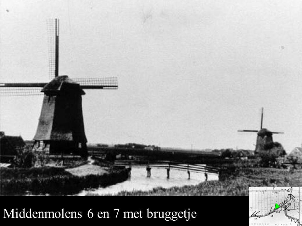 Middenmolens 6 en 7 Middenmolens 6 en 7 met bruggetje