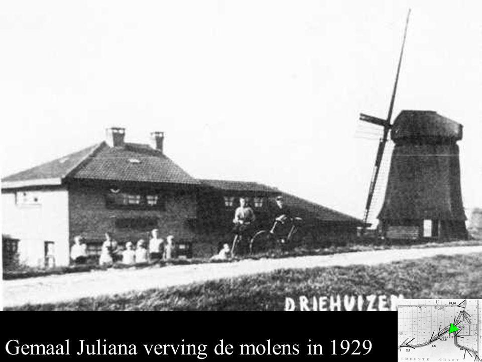 Gemaal Juliana Gemaal Juliana verving de molens in 1929