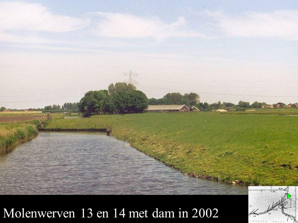 Ondermolens 13 en 14 Molenwerven 13 en 14 met dam in 2002