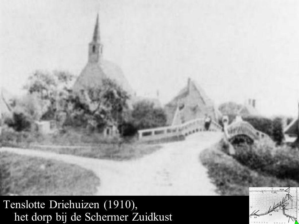 Driehuizen 1910 Tenslotte Driehuizen (1910), het dorp bij de Schermer Zuidkust