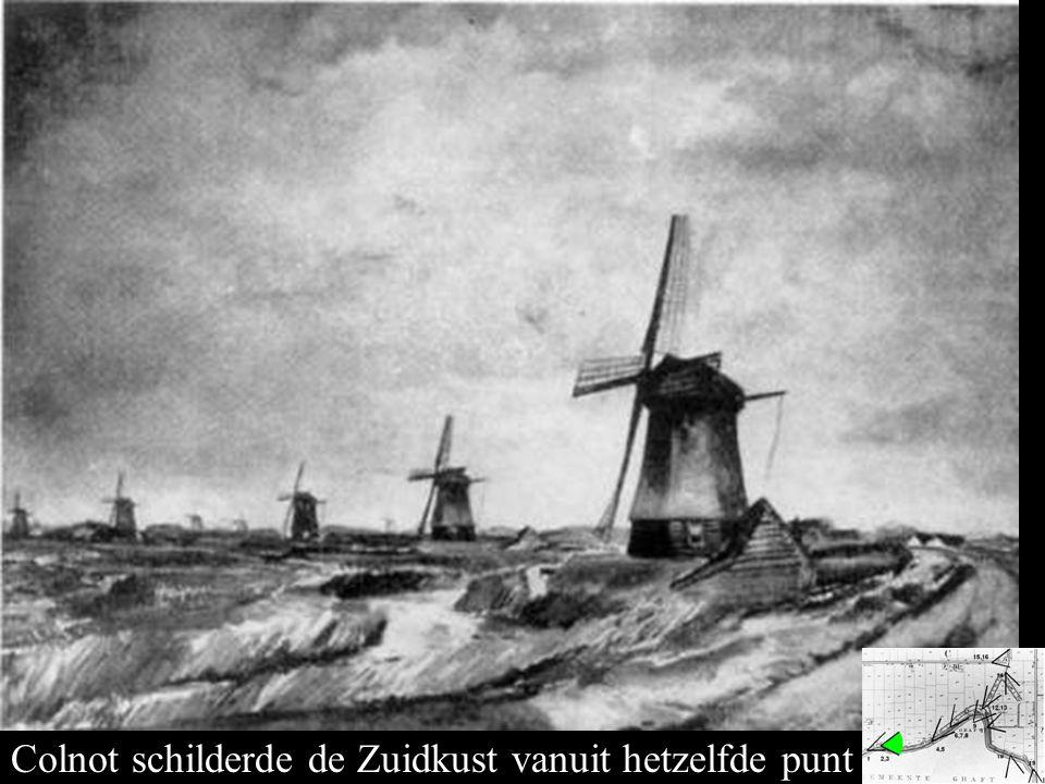 Bovenmolens vanaf 2 Colnot schilderde de Zuidkust vanuit hetzelfde punt