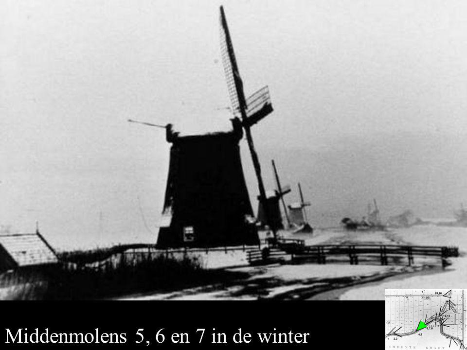Middenmolens 5,6 en 7 in de winter