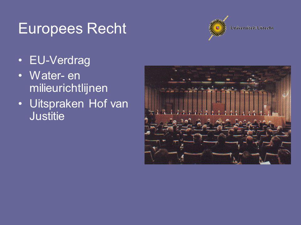 Europees Recht EU-Verdrag Water- en milieurichtlijnen Uitspraken Hof van Justitie