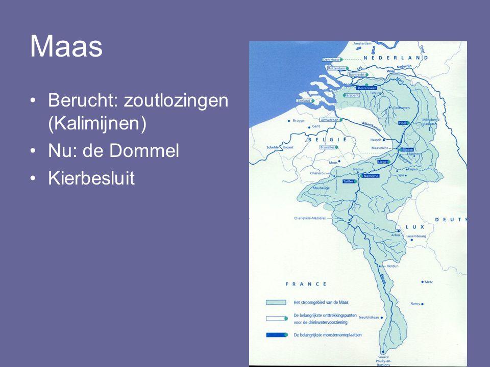 Maas Berucht: zoutlozingen (Kalimijnen) Nu: de Dommel Kierbesluit