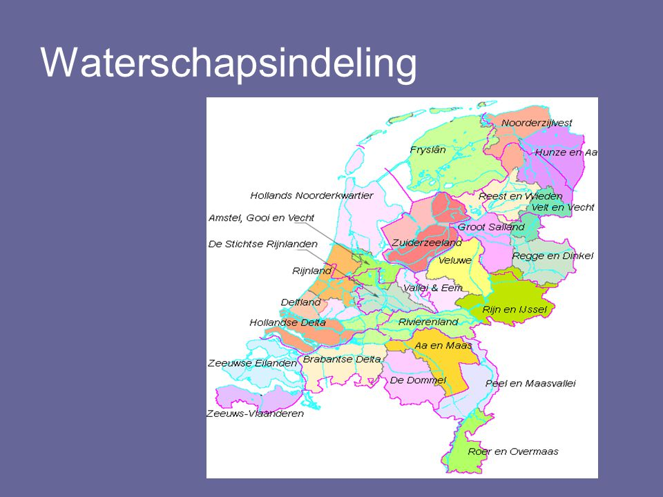 Waterschapsindeling