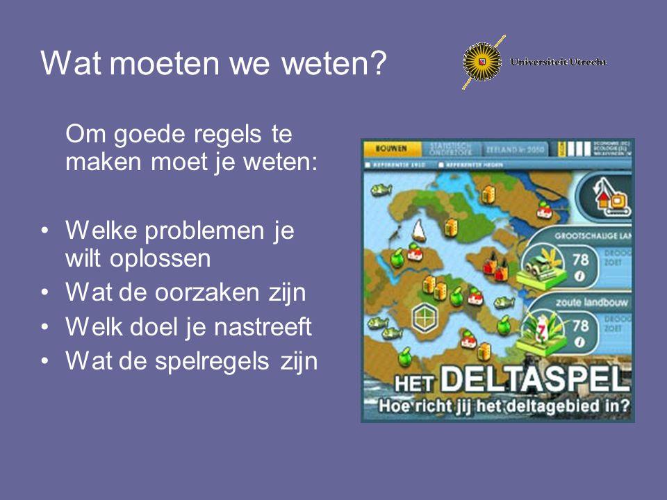 Integratie van groot deel van het Europese waterrecht Niet: kwaliteitsnormen Niet: drinkwater Niet: lozingen op de riolering Niet: wateroverlast in stedelijk gebied (hemelwater en capaciteit riolering)