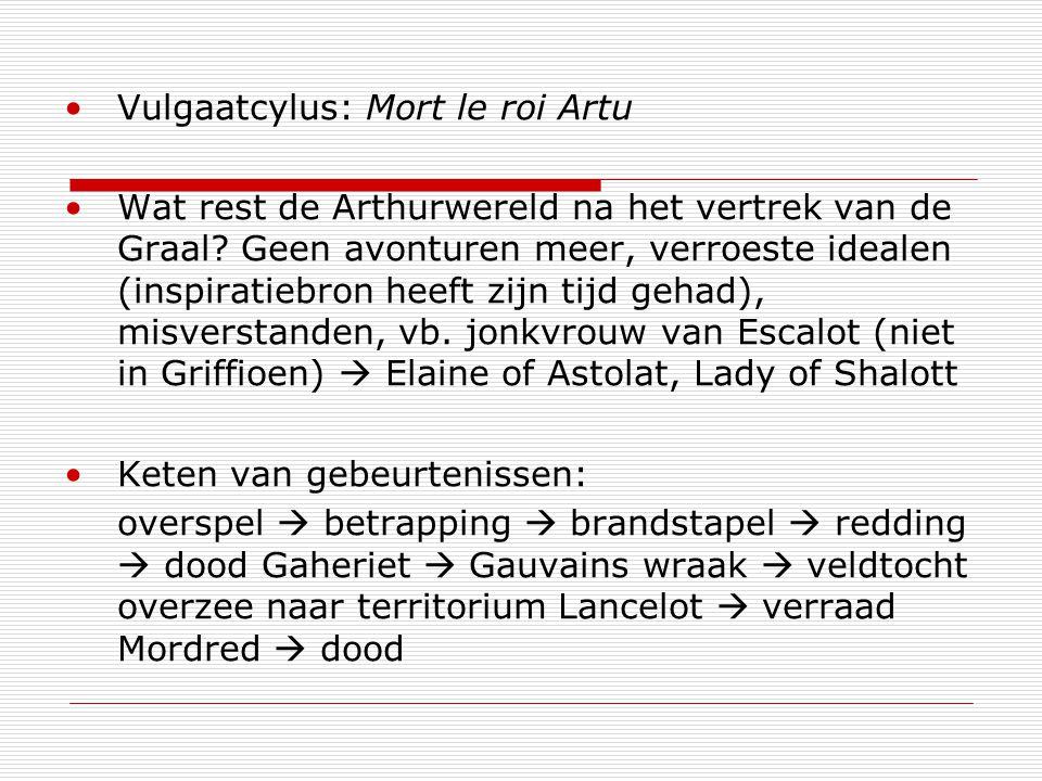 Vulgaatcylus: Mort le roi Artu Wat rest de Arthurwereld na het vertrek van de Graal.