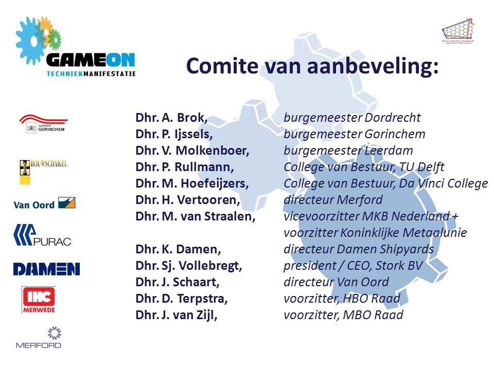 Dhr. A. Brok, burgemeester Dordrecht Dhr. P. Ijssels, burgemeester Gorinchem Dhr.