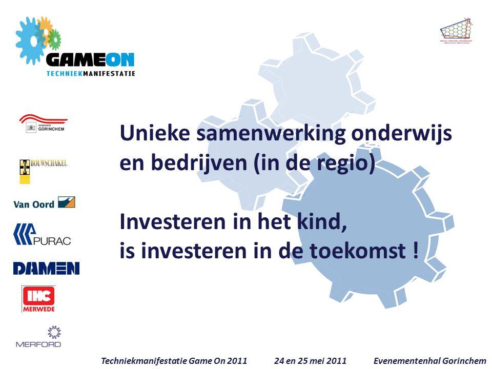 Unieke samenwerking onderwijs en bedrijven (in de regio) Investeren in het kind, is investeren in de toekomst .
