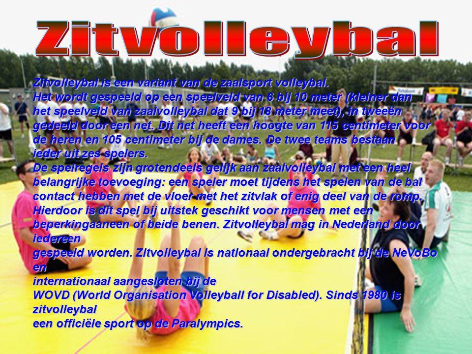 Zitvolleybal is een variant van de zaalsport volleybal. Het wordt gespeeld op een speelveld van 6 bij 10 meter (kleiner dan het speelveld van zaalvoll