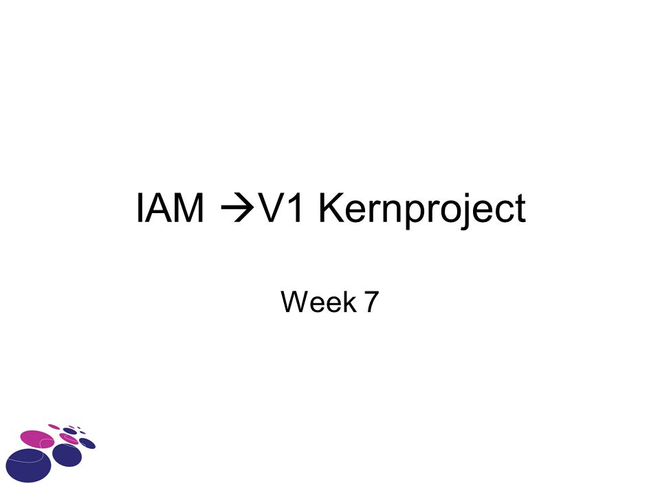 IAM  V1 Kernproject Week 7