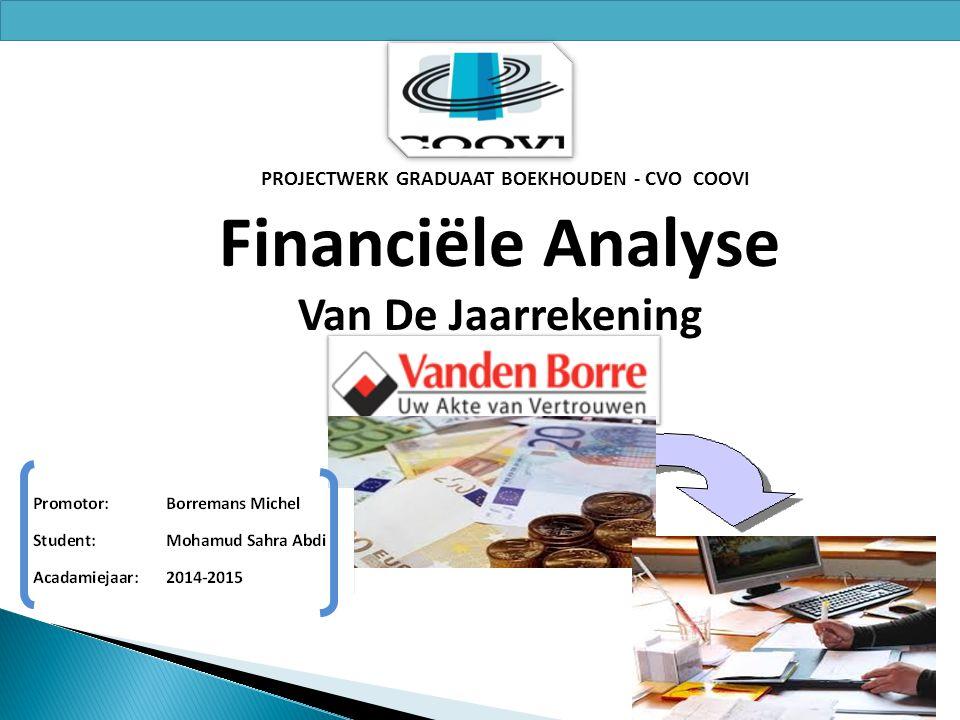 PROJECTWERK GRADUAAT BOEKHOUDEN - CVO COOVI Financiële Analyse Van De Jaarrekening