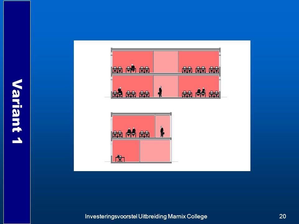 Investeringsvoorstel Uitbreiding Marnix College20 Variant 1