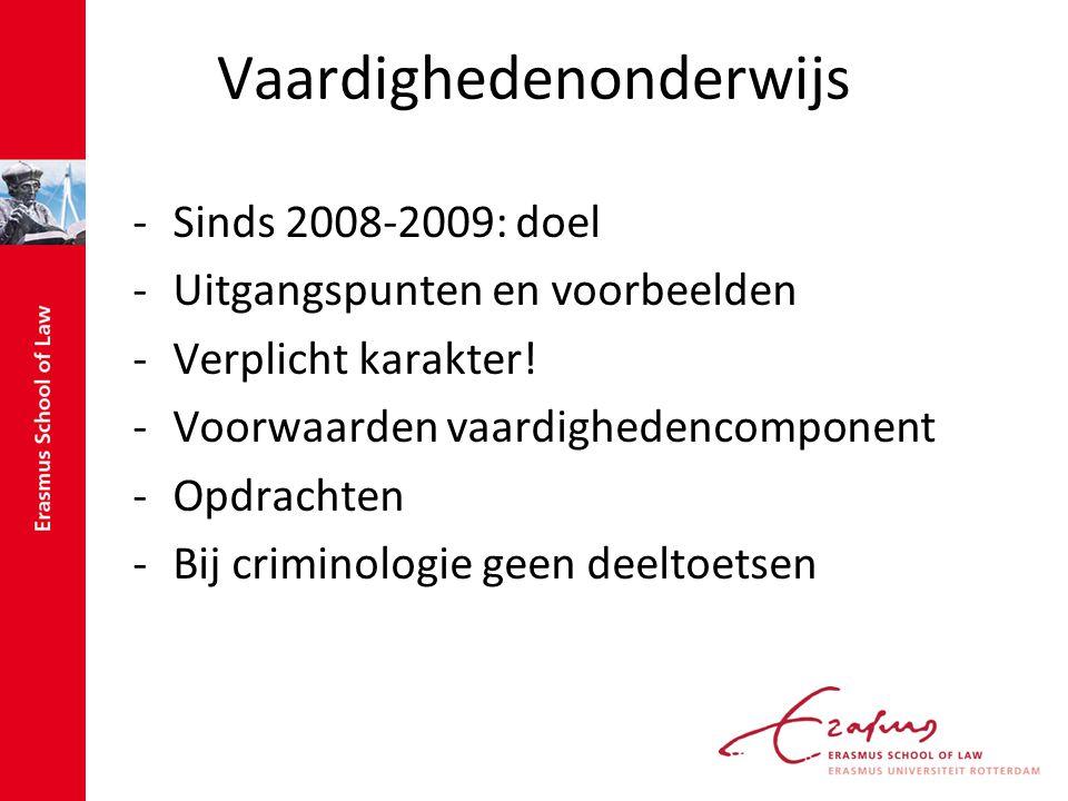 Vaardighedenonderwijs -Sinds 2008-2009: doel -Uitgangspunten en voorbeelden -Verplicht karakter.