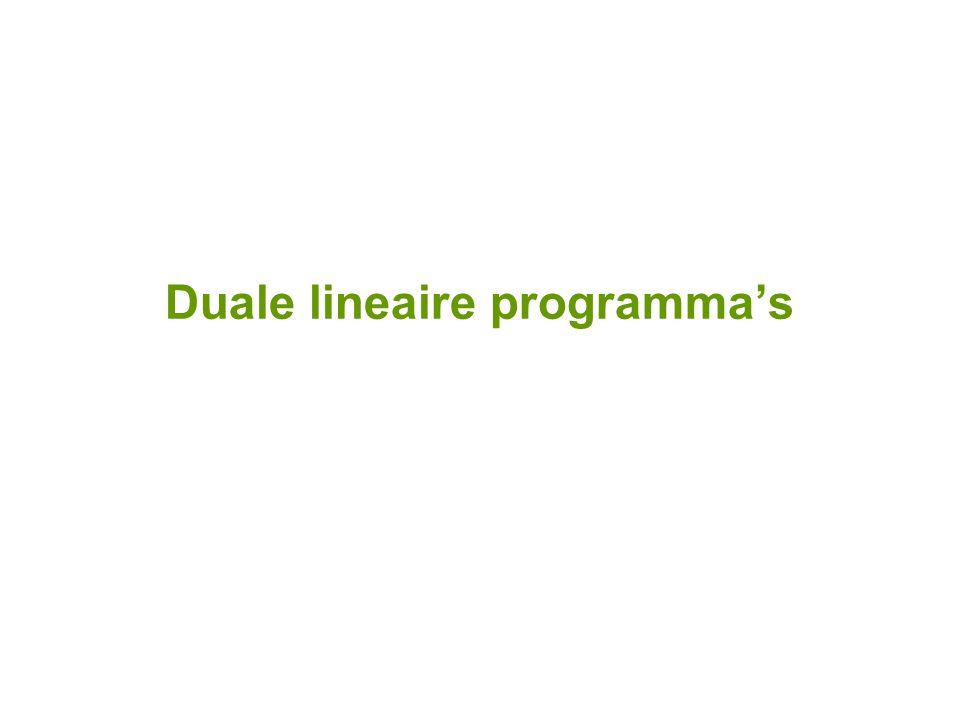 Duale lineaire programma's