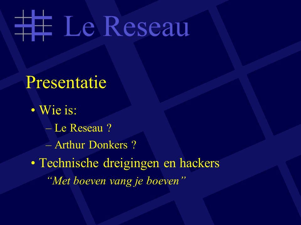 Presentatie Wie is: – Le Reseau .– Arthur Donkers .