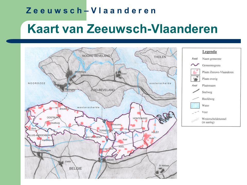 Z e e u w s c h – V l a a n d e r e n Kaart van Zeeuwsch-Vlaanderen
