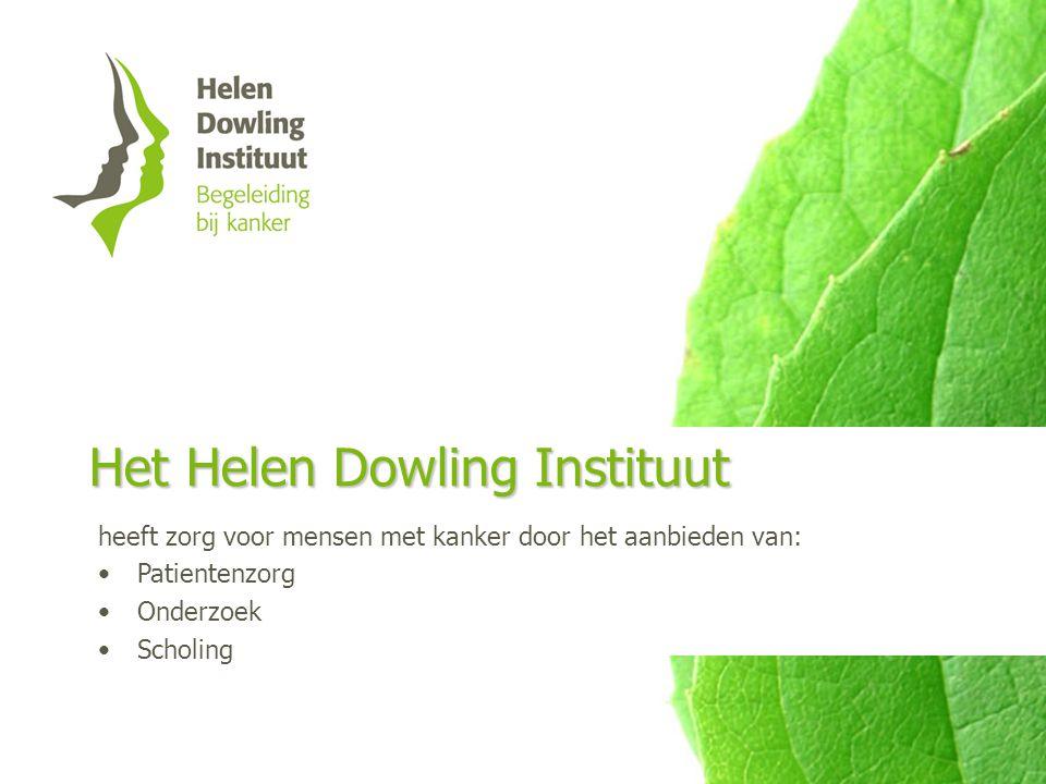 Het Helen Dowling Instituut heeft zorg voor mensen met kanker door het aanbieden van: Patientenzorg Onderzoek Scholing