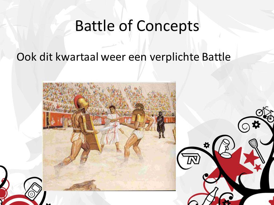 Battle of Concepts Ook dit kwartaal weer een verplichte Battle