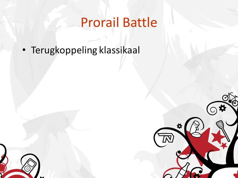 Prorail Battle Terugkoppeling klassikaal
