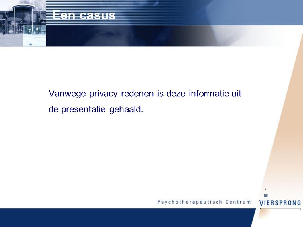 Een casus Vanwege privacy redenen is deze informatie uit de presentatie gehaald.