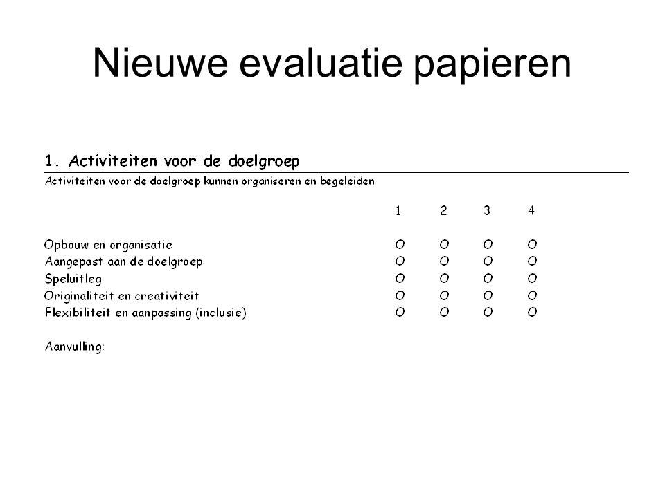 Nieuwe evaluatie papieren