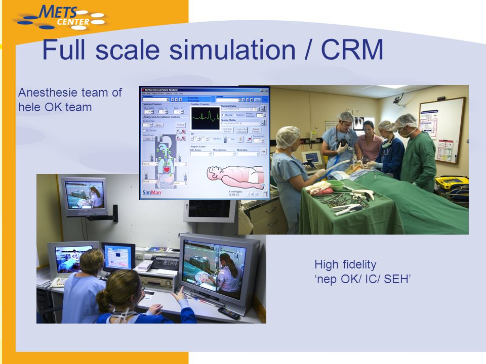 Full scale simulation / CRM High fidelity 'nep OK/ IC/ SEH' Anesthesie team of hele OK team