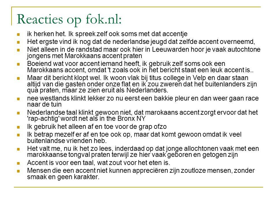 Reacties op fok.nl: ik herken het.