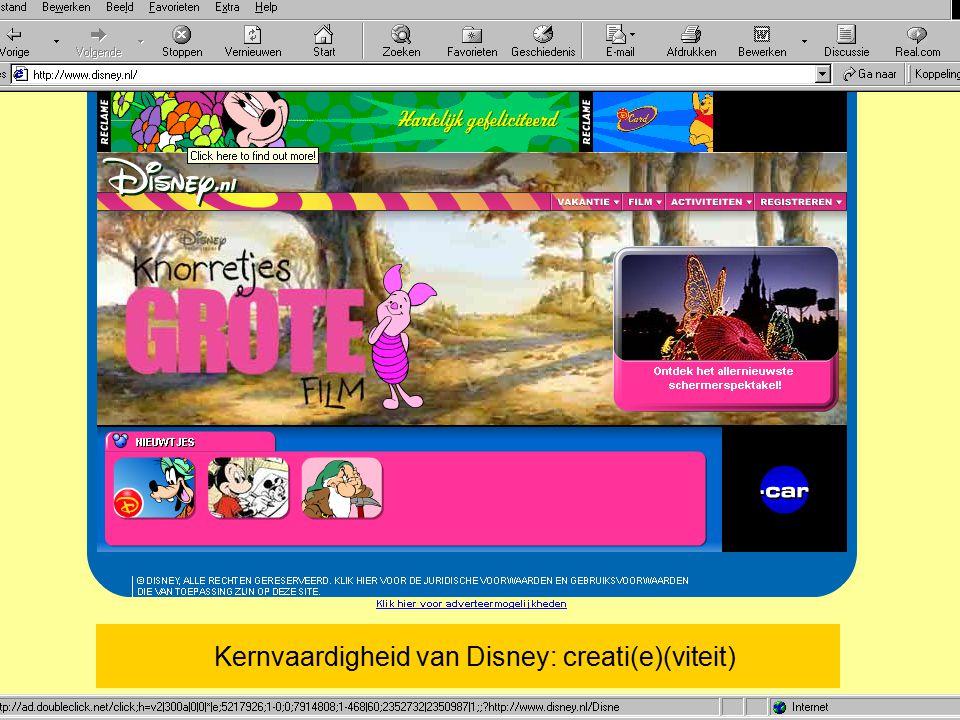 29 juni 2015Wouter de Vries jr / Vrije Universiteit 1. Kernvaardigheid van Disney: creati(e)(viteit)