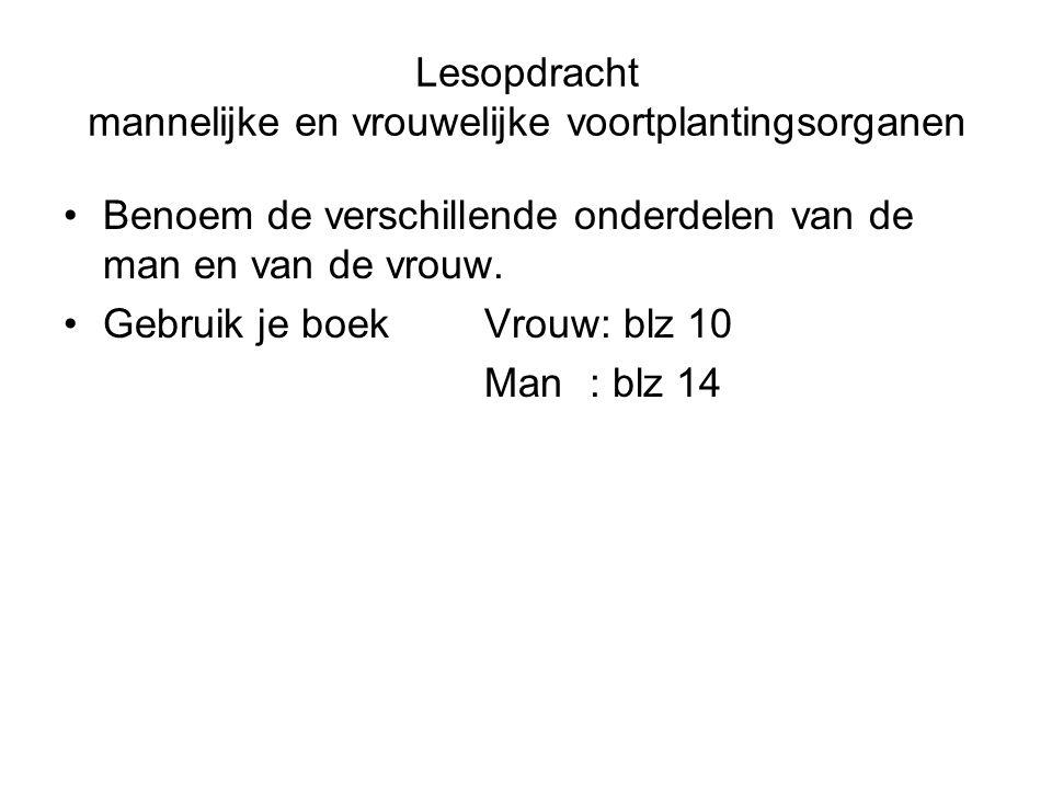 Vrouwelijk voorplantingsstelsel opdracht : www.bioplek.org 1 = eierstok (ovarium)8 = trechter eileider 2 = baarmoeder (uterus)9 = eileider (oviduct) 3 = baarmoedermond 10 = urineblaas 4 = vagina / schede11 = schaambeen 5 = endeldarm12 = urinebuis 6 = ingang vagina13 = clitoris 7 = kleine schaamlip14 = grote schaamlip
