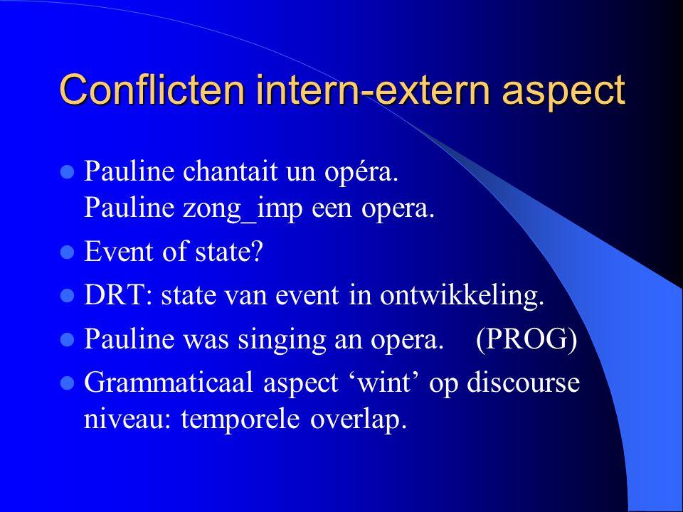 Conflicten intern-extern aspect Pauline chantait un opéra.
