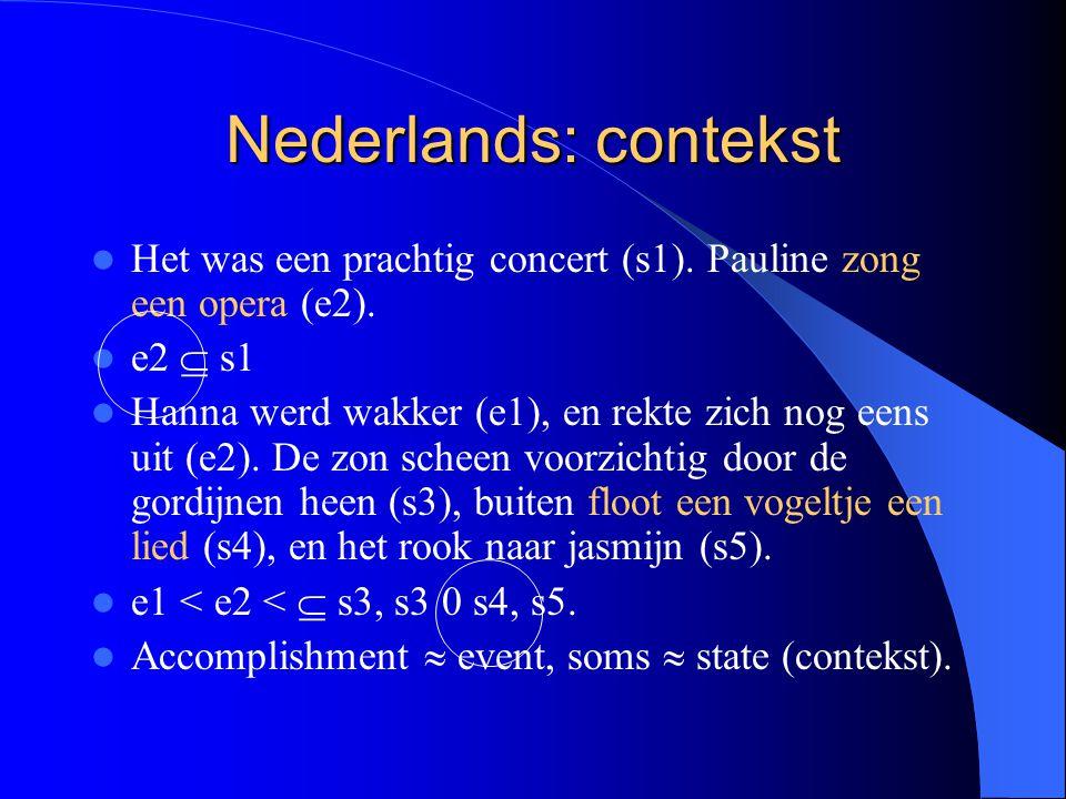Nederlands: contekst Het was een prachtig concert (s1).
