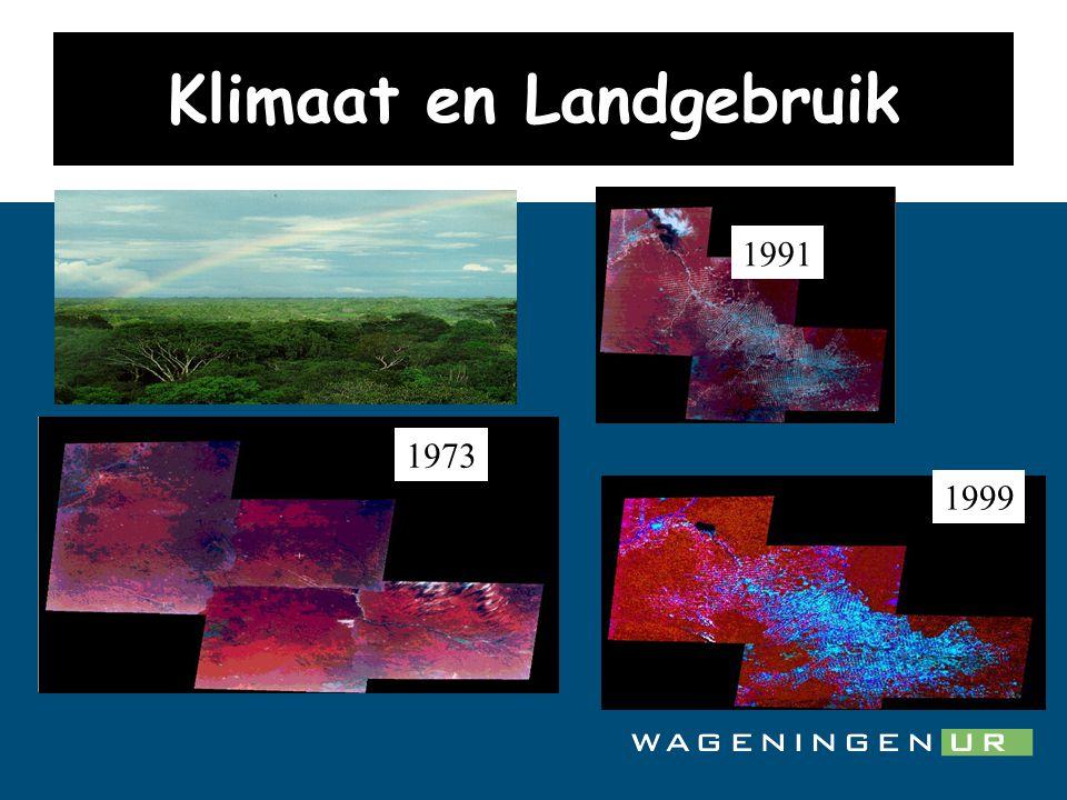 26 Klimaat en Landgebruik 1973 1991 1973 1999