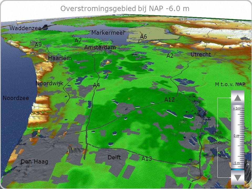 64 Overstromingsgebied bij NAP -6.0 m - 5 m 0 m + 5m M t.o.v.