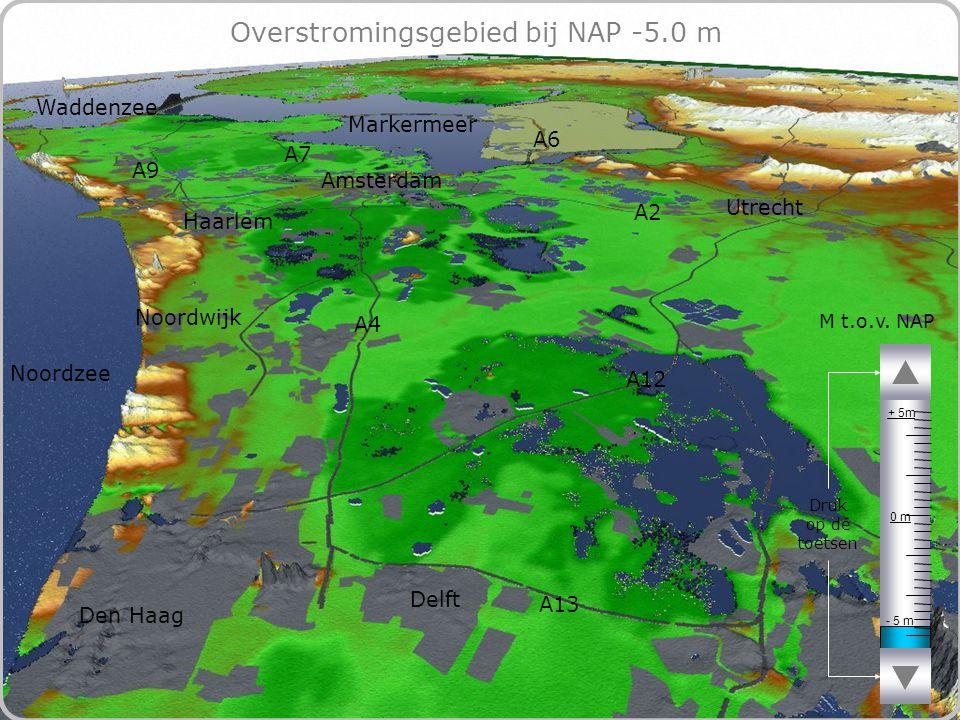 65 Overstromingsgebied bij NAP -5.0 m - 5 m 0 m + 5m M t.o.v.