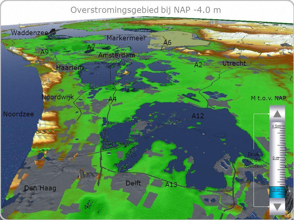 66 Overstromingsgebied bij NAP -4.0 m - 5 m 0 m + 5m M t.o.v.