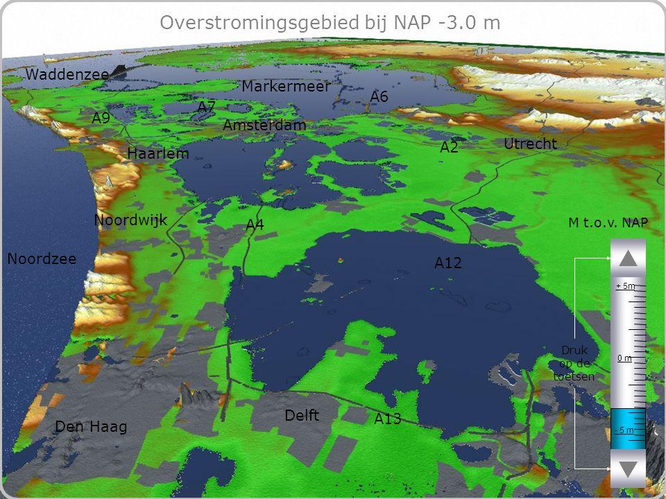 67 Overstromingsgebied bij NAP -3.0 m - 5 m 0 m + 5m M t.o.v.