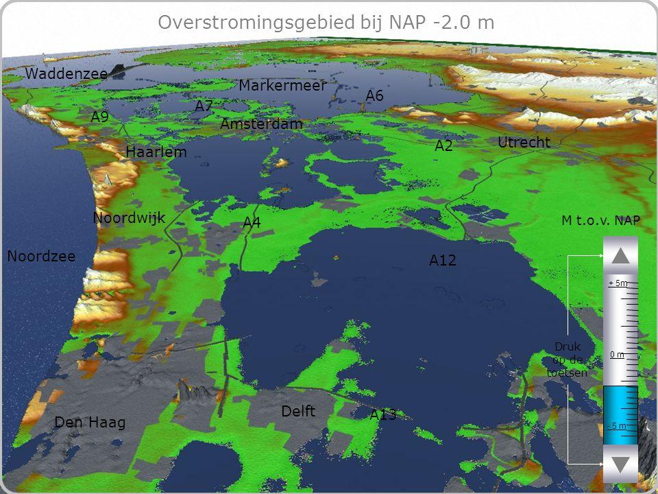 68 Overstromingsgebied bij NAP -2.0 m - 5 m 0 m + 5m M t.o.v.