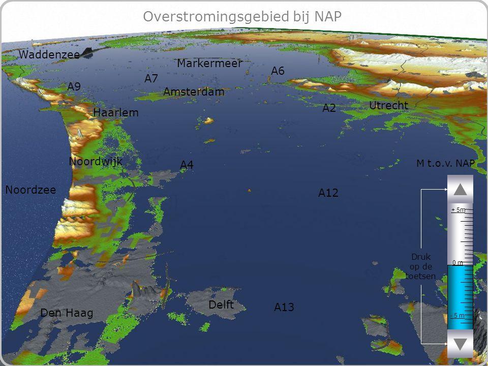 70 Overstromingsgebied bij NAP - 5 m 0 m + 5m M t.o.v.