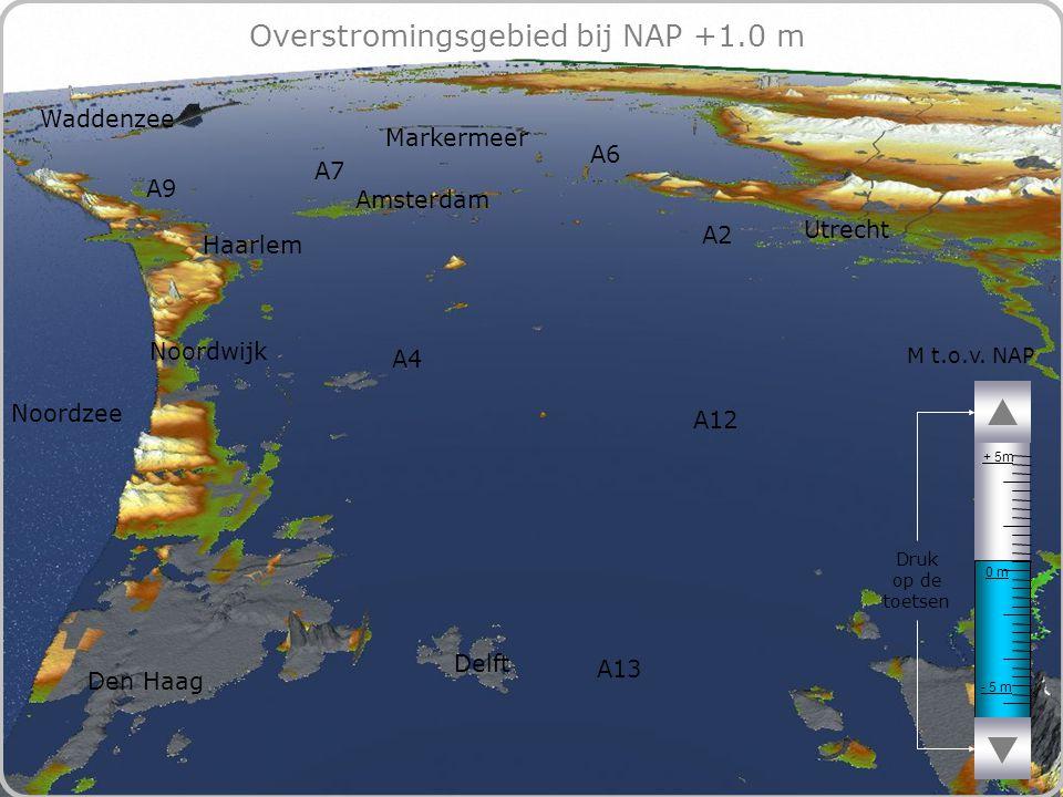 72 Overstromingsgebied bij NAP +1.0 m - 5 m 0 m + 5m M t.o.v.